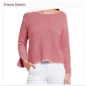 New! Frame Le Cropped' Stripe Sweater
